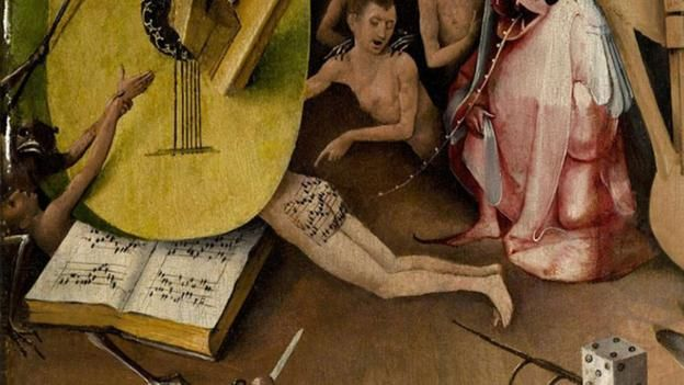 On the 500th anniversary of Hieronymus Bosch's death, Fiona Macdonald picks out a few choice details from his most famous painting.