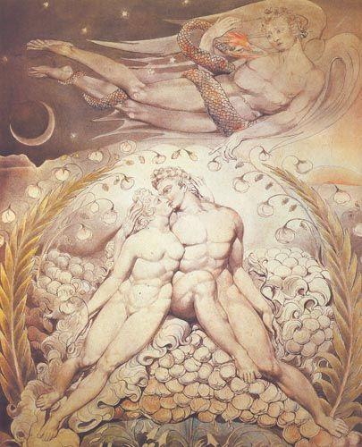 Уильям Блейк. Сатана задумывает искусить Адама и Еву