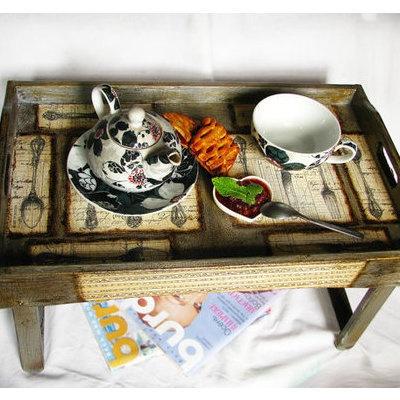 Love.Decor, Breakfast In Beds, Breakfast Trays, Beds Tables, Portable Teas, Folding Legs Lov, Rustic Breakfast, Breakfast Tables, Products