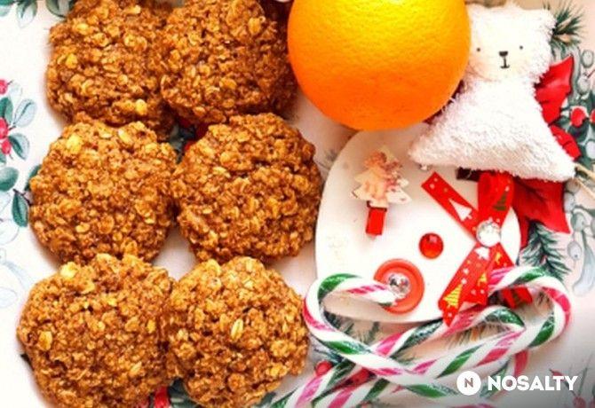 Narancsos-mogyorós zabpelyhes kekszek liszt nélkül