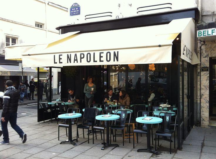 La nouvelle terrasse du Napoléon Rue du Faubourg Saint Denis Paris 10e Clémence et Clément Décorateurs