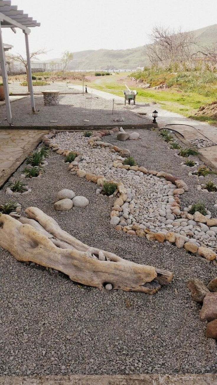 Cool 40 Simple Rock Garden Decor Ideas for Your Front or Back Yard https://lovelyving.com/2017/09/10/40-simple-rock-garden-decor-ideas-front-back-yard/