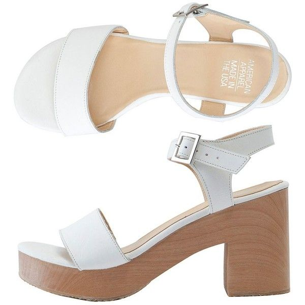 American Apparel Wooden Heel Sandal and other apparel, accessories and trends. Browse and shop 8 related looks.
