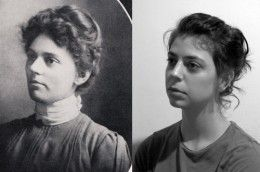 Rachael Ehrlund (right) was doing meditation and recalled being Edgar Cayce's sister Annie (left) in her past life. See link under photo below for full story.