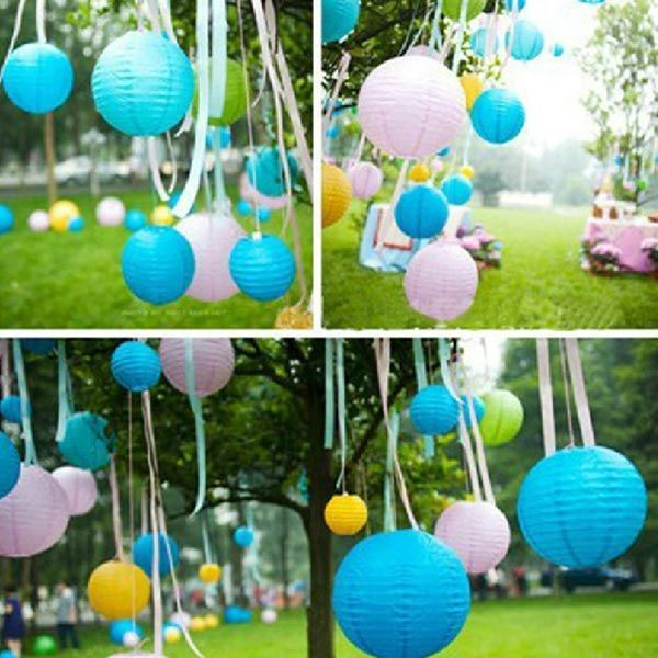 Sale 12% (2$) - Multicolor Chinese Paper Lanterns Lamp Wedding Outdoor Decoration