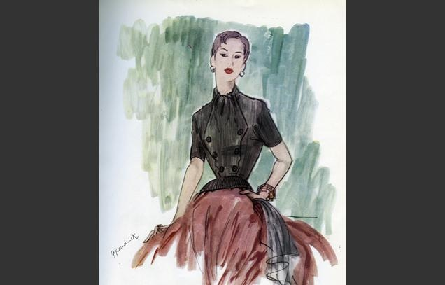 Britannica 1951 to 1953 Selfridges Jubilee Fashion Exhibition from Vogue March 1952British Fashion @nixieclothing #nixiedjubilee