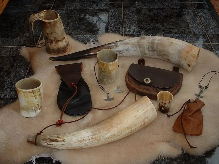 vikings leather and horn