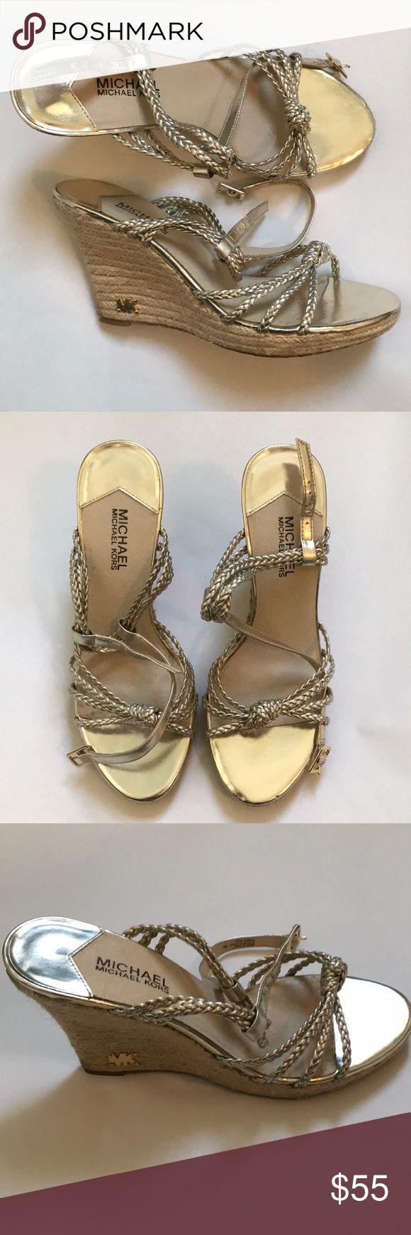 MICHAEL Michael Kors silver espadrilles MICHAEL Michael Kors silver espadrilles. Strappy and fun! MICHAEL Michael Kors Shoes Espadrilles