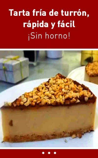 #receta #tarta #fría #turrón #rápido #fácil. #sinhorno