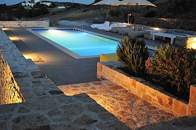 Patmos Luxury Villa at night