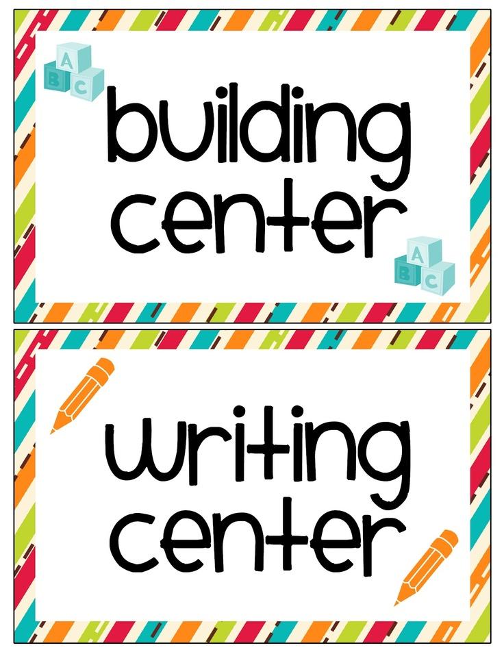 LAWTEEDAH: Classroom Center Labels