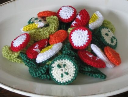 Crocheted Salad Play Food Set