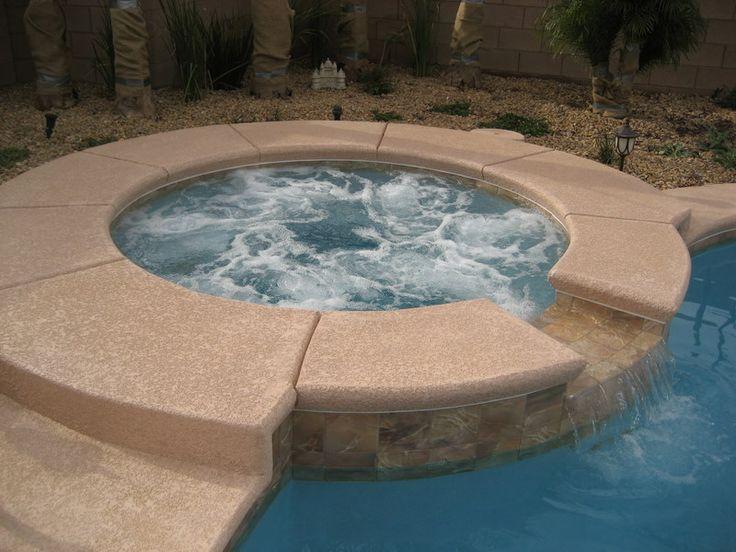 Inground spa with spillway to pool Spas Pinterest