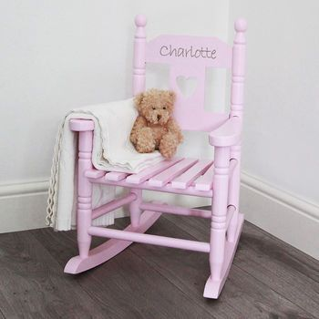 Delightful Personalised Childu0027s Rocking Chair