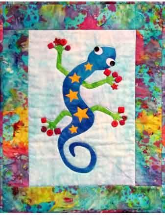 Funky Gecko quilt pattern