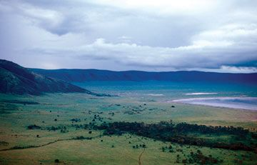 Volcanic crater in the East African Rift Valley