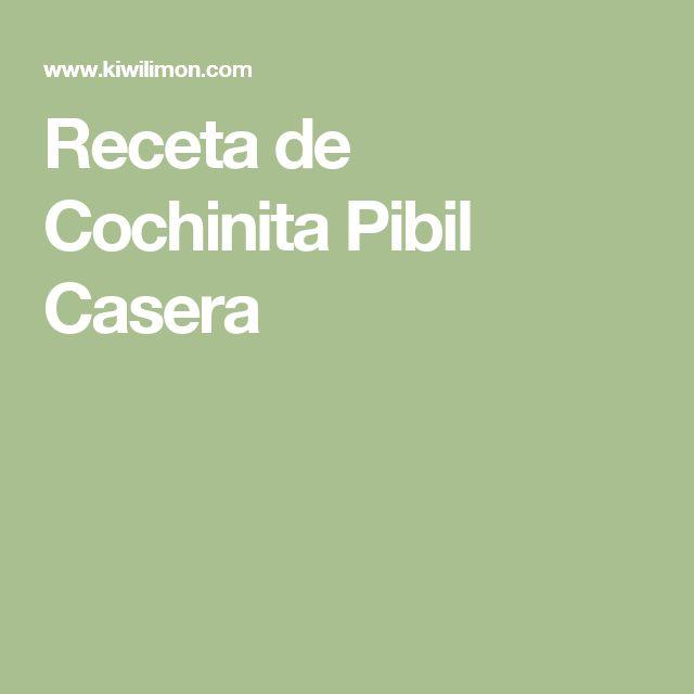 Receta de Cochinita Pibil Casera