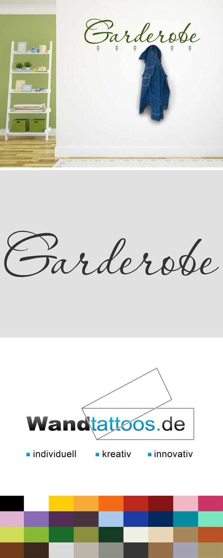 Wandtattoo Garderobe als Idee zur individuellen Wandgestaltung. Einfach Lieblingsfarbe und Größe auswählen. Weitere kreative Anregungen von Wandtattoos.de hier entdecken!