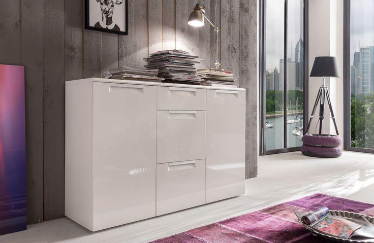 Die besten 25+ Sideboard weiss hochglanz Ideen auf Pinterest Tv - wohnzimmermöbel weiß hochglanz