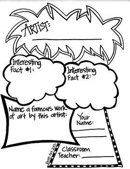 Artist Graphic Organizer, Free