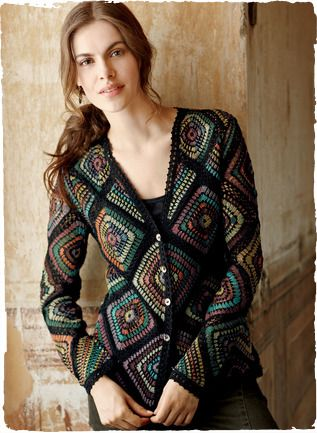 Pima Cotton Stained Glass Cardigan Peruvian Connection