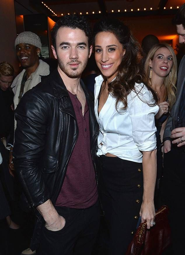 Kevin Jonas and Danielle Jonas from Grammys 2018 Pre-Party Pics  Kevin was joined atRepublic Records' party by his wife.