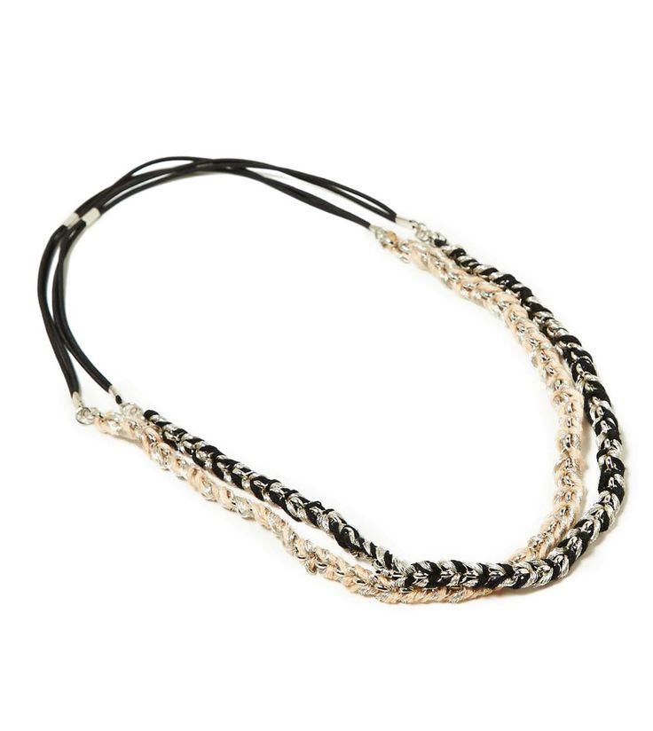 AEO Metallic Braided Headband Set