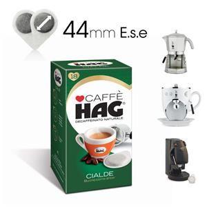 18 cialde HAG caffe Decaffeinato in carta filtro ESE 44mm a soli 3,90€
