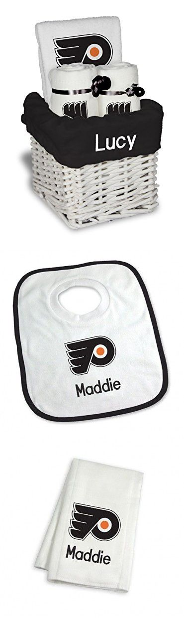 Best 25 philadelphia flyers ideas on pinterest flyers hockey designs by chad and jake baby personalized philadelphia flyers small gift basket one size white negle Image collections