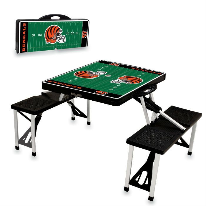 Use this Exclusive coupon code: PINFIVE to receive an additional 5% off the Cincinnati Bengals Black Portable Picnic Table at SportsFansPlus.com