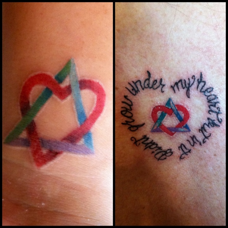 25+ Bästa Adoption Symbol Tattoos Idéerna På Pinterest