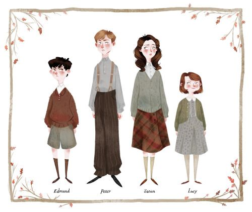 MY CHILDREN! <3 The colder weather has got me feeling the Narnia nostalgia.