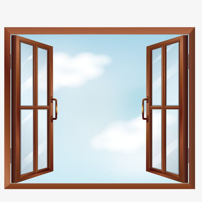 Vector Open Windows Window Clipart Decoration Blue Sky Png Transparent Clipart Image And Psd File For Free Download Window Clipart Window Frame Picture Image