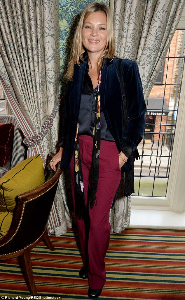Far from pants:The British beauty continued to showcase her signature style as she slippe...
