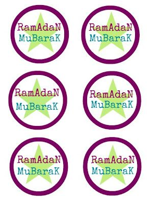 Ramadan Mubarak Party Collection Free Printable Circles