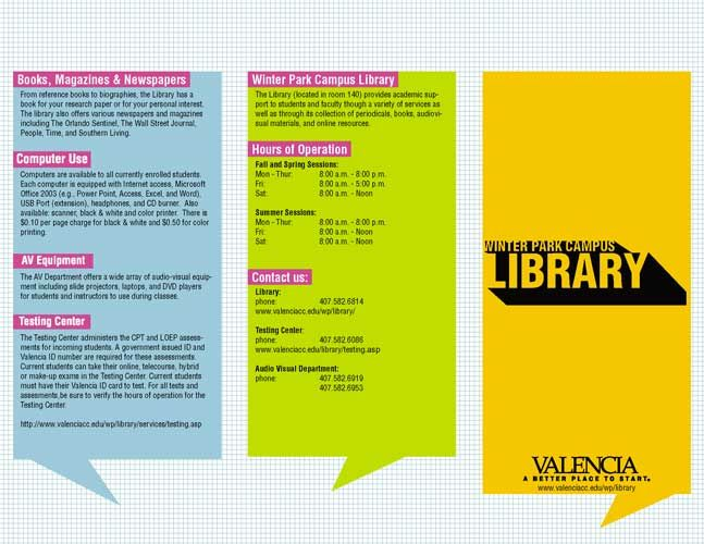 12 Best Library Brochures Images On Pinterest Brochures High