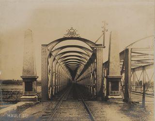 Puente Maule. Archivo Patrimonial Ministerio de Obras Publicas MOP.
