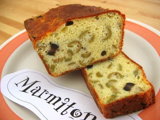 Cake aux deux olives d'un moelleux imbattable - Recette de cuisine Marmiton : une recette