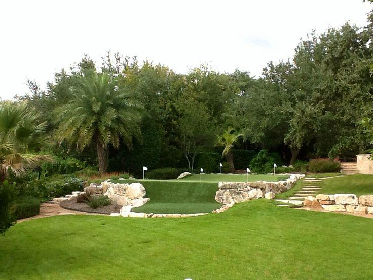 backyard artificial putting green by southwest greens of san antonio