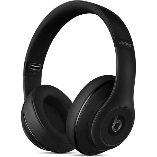 Beats by Dr. Dre Studio Wireless Over-Ear Headphones (1,475 ILS) ❤ liked on Polyvore featuring accessories, tech accessories, beats by dr dre headphones, black headphones and beats by dr. dre