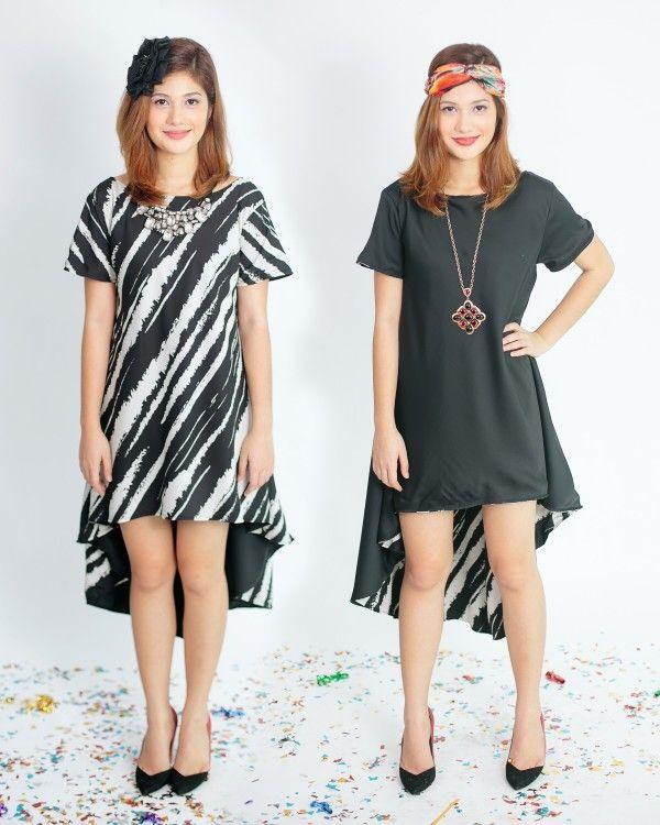 Badra Reversible High-Low Dress