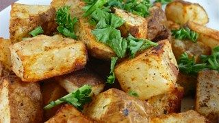 Simple and delicious recipe for rosemary-kissed roasted red potatoes.