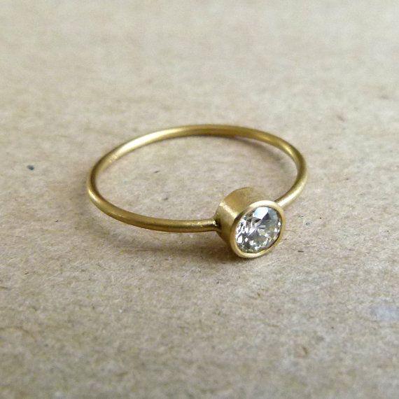 Diamond Engagement Ring  0.3 carat Diamond Ring  18k by artemer