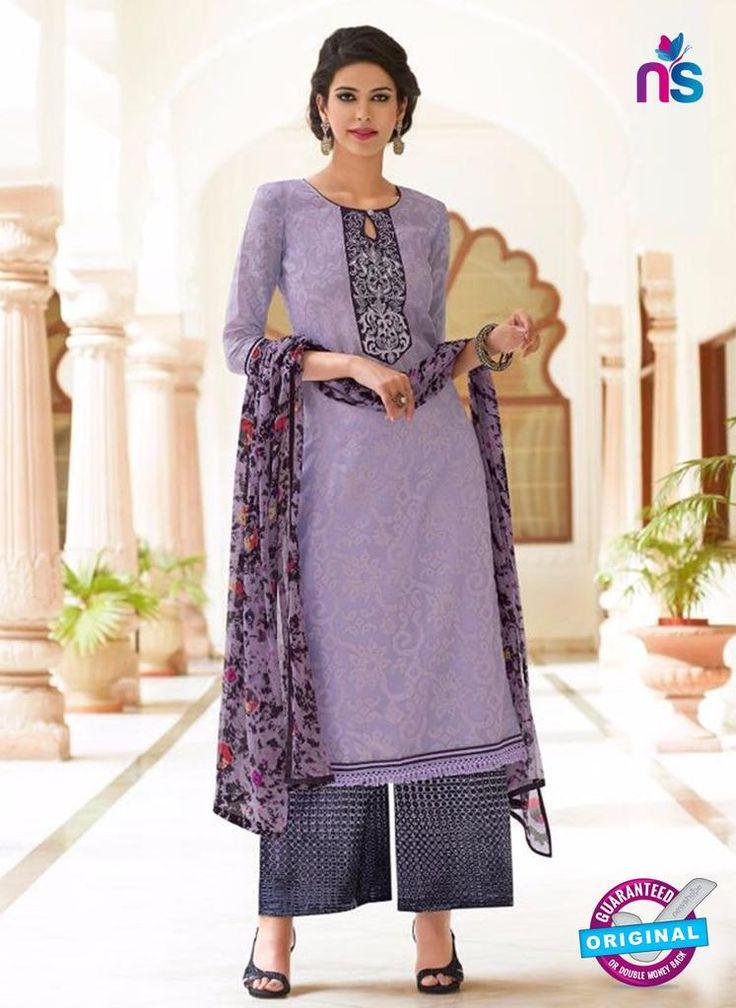 Teazle 2201 Purple and Black Kota Doria Party Wear Suit