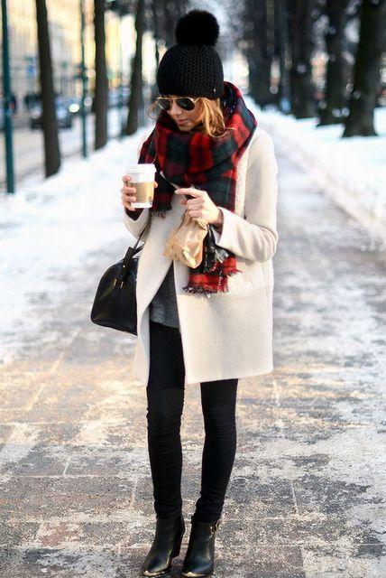 Winter jas creme
