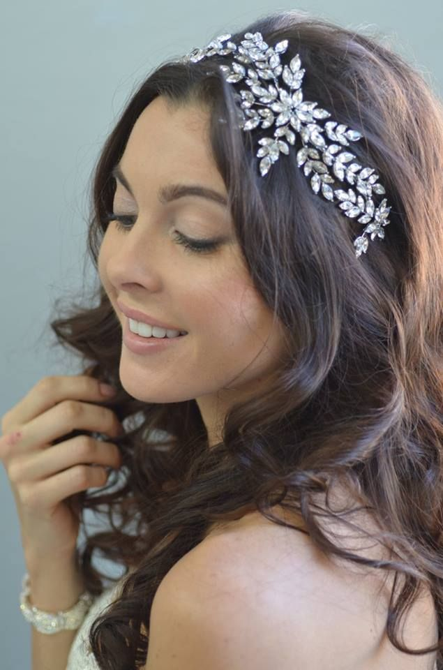 Fabulous Quince headpiece!  Marquise Crystal Leaf Vine Headband Elena Designs E847 - Affordable Elegance Bridal -