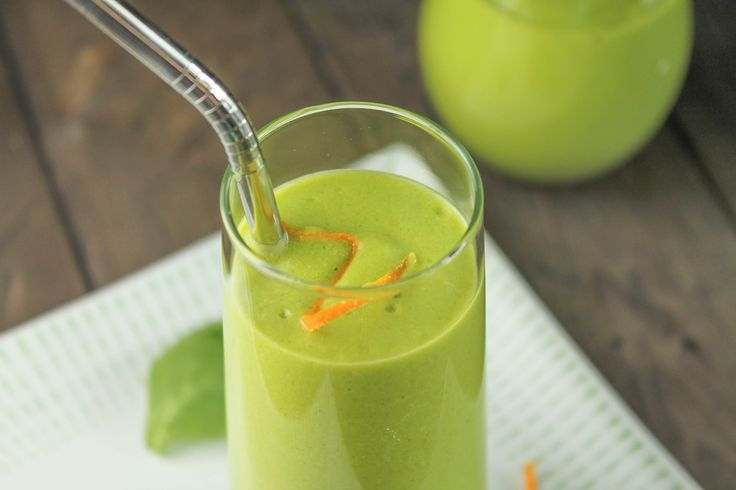 Paleo Orange Greensicle Smoothie - A Full Meal Deal!