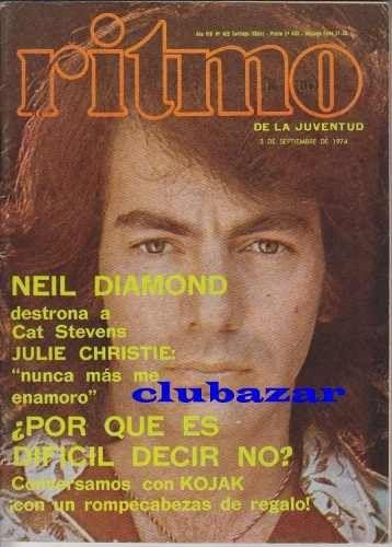 neil diamond antigua revista ritmo chile de septiembre 1974