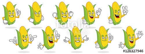 """Download the royalty-free vector """"Corn mascot vector pack, Corn character set, vector of Corn"""" designed by ednal at the lowest price on Fotolia.com. Browse our cheap image bank online to find the perfect stock vector for your marketing projects!"""