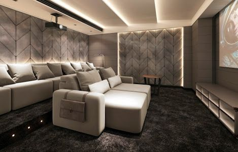 Luxury Cinema Room with cinema seating that is like no other. These cinema seats are recliner seats with electric or manual head rests and feet rests. Pure luxury cinema chairs - Dream Homes